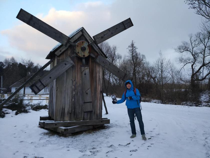Michal G with Book Windmill