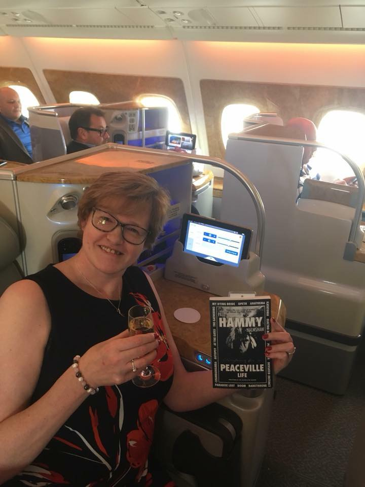 Jo Brearley with Book