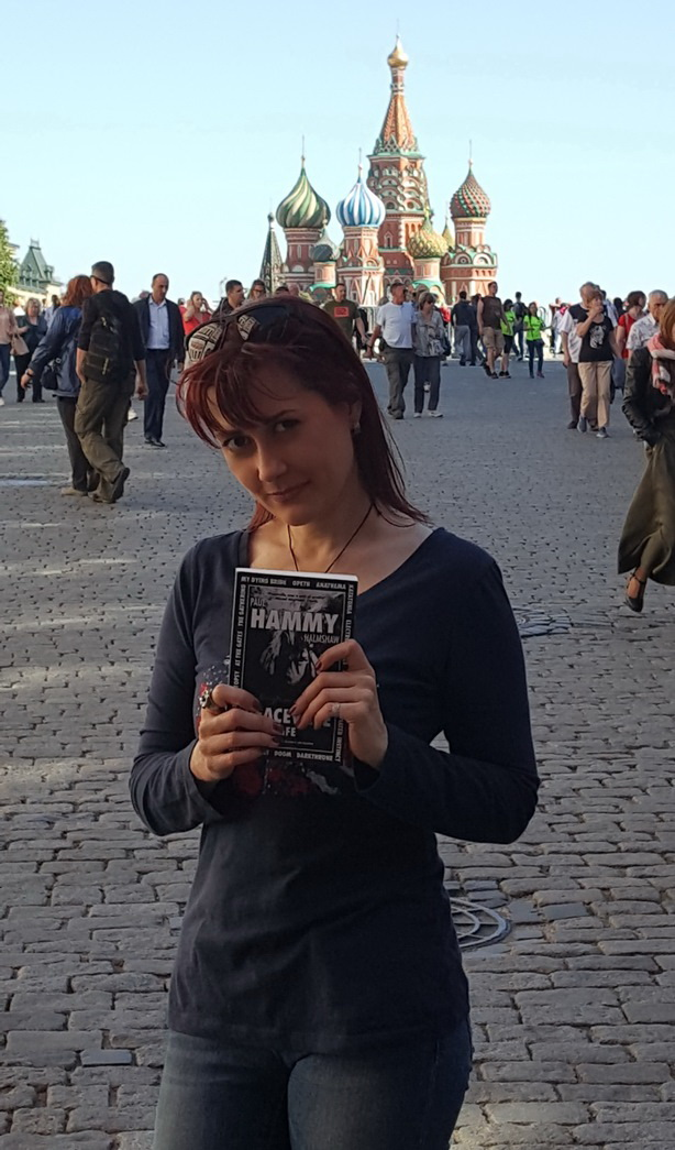 Olga Georg with Book Moscow