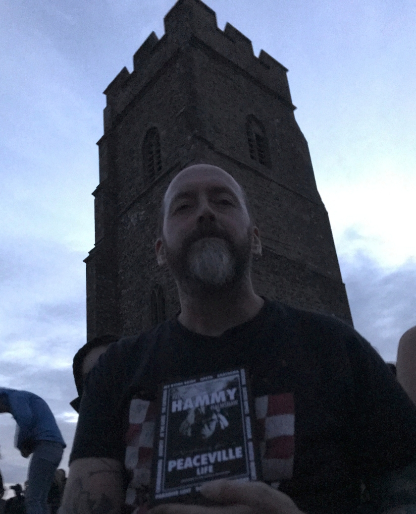 Darren Sadler with Book Glastonbury Tor